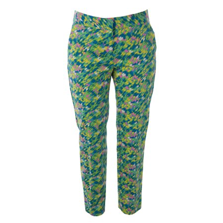 BODEN Women's Printed Bistro Crop Trousers US Sz 2R Multicolored