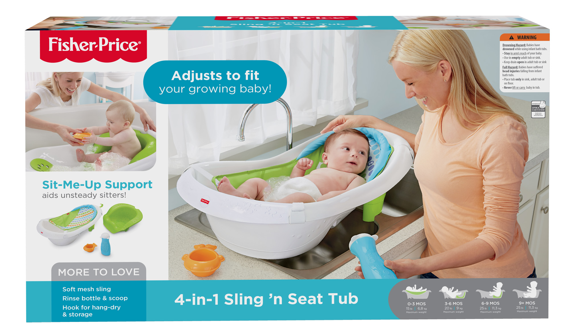 fisher price 4 in 1 sling n seat tub walmart