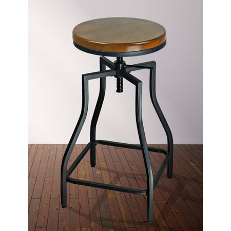 Williston Forge Wirksworth Adjustable Height Swivel Bar Stool (Set of 2) (Collection Forged Metal)