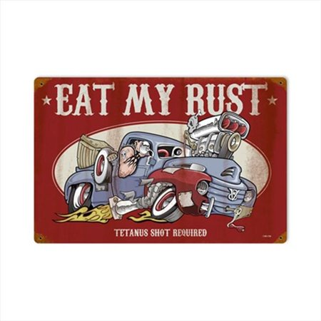 Past Time Signs LETH096 Eat My Rust Automotive Vintage Metal Sign - image 1 of 1