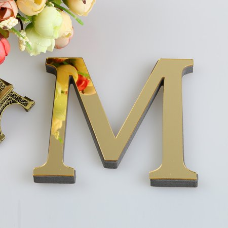 26 Letters DIY 3D Mirror Acrylic Wall Sticker Decals Home Decor Wall A