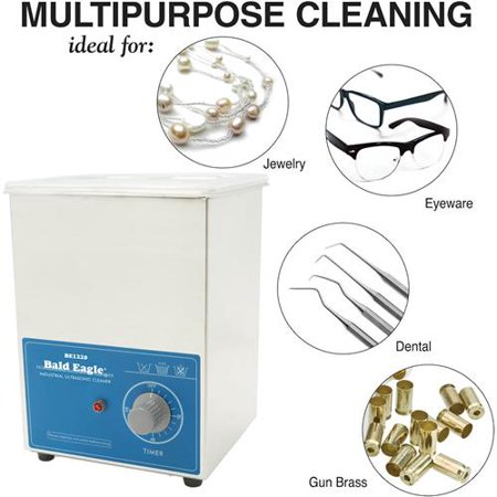 Ultrasonic Dental Cleaning - Bald Eagle V1620T Ultrasonic Cleaner, 2-Liter Multi-Purpose Cleaning for Dental and Precision Instruments, Jewelry, Auto Parts