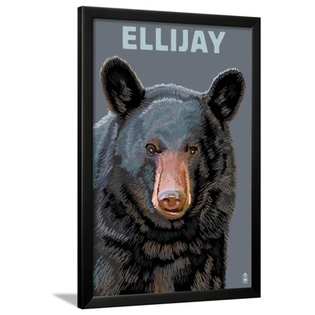 Ellijay, Georgia - Black Bear Up Close Framed Print Wall Art By ...