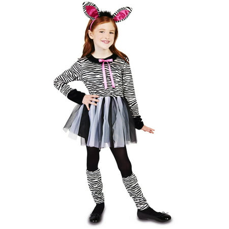 Sweet Zebra Girl Child Halloween Costume - Zebra Halloween Makeup