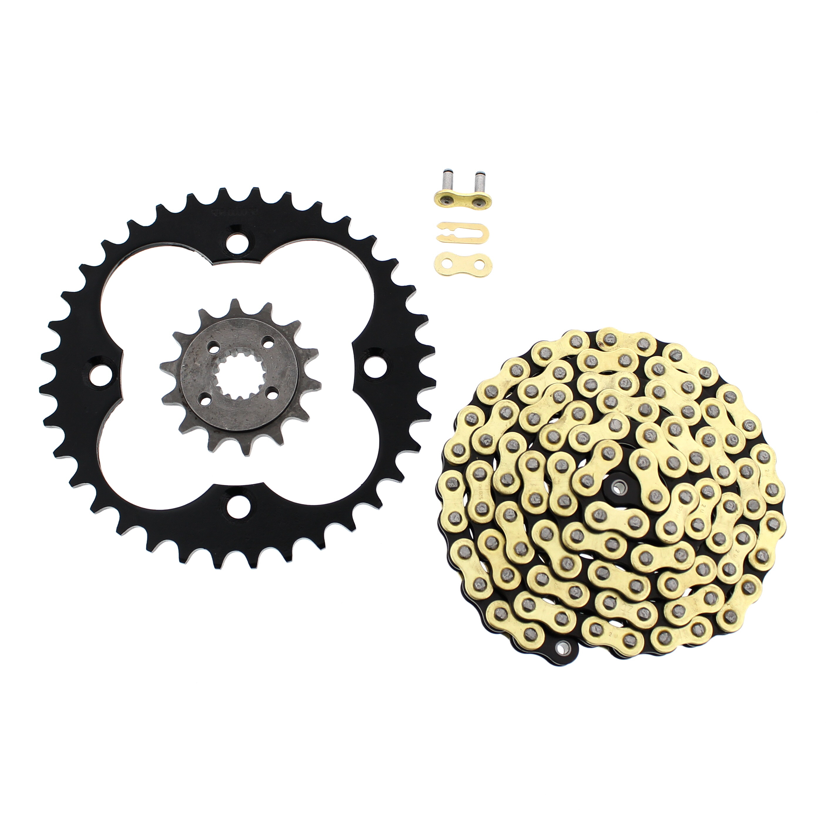 2012 Honda TRX400X Gold MX Series CZ Chain Black Sprocket 14/36 +10 Swingarm