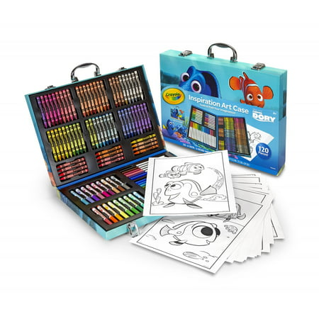 Crayola Inspiration Art Kit Coloring Case, Disney Finding Dory, 120 Pieces