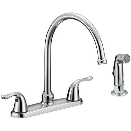 Floor Faucet Package - EZ-FLO 2-Handle Hi-Rise Kitchen Faucet