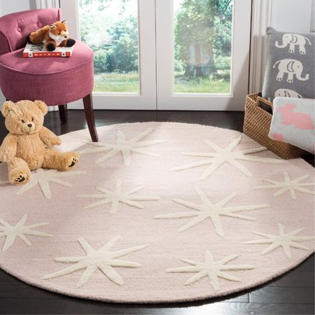harriet bee claro starbursts hand tufted pink area rug walmart com