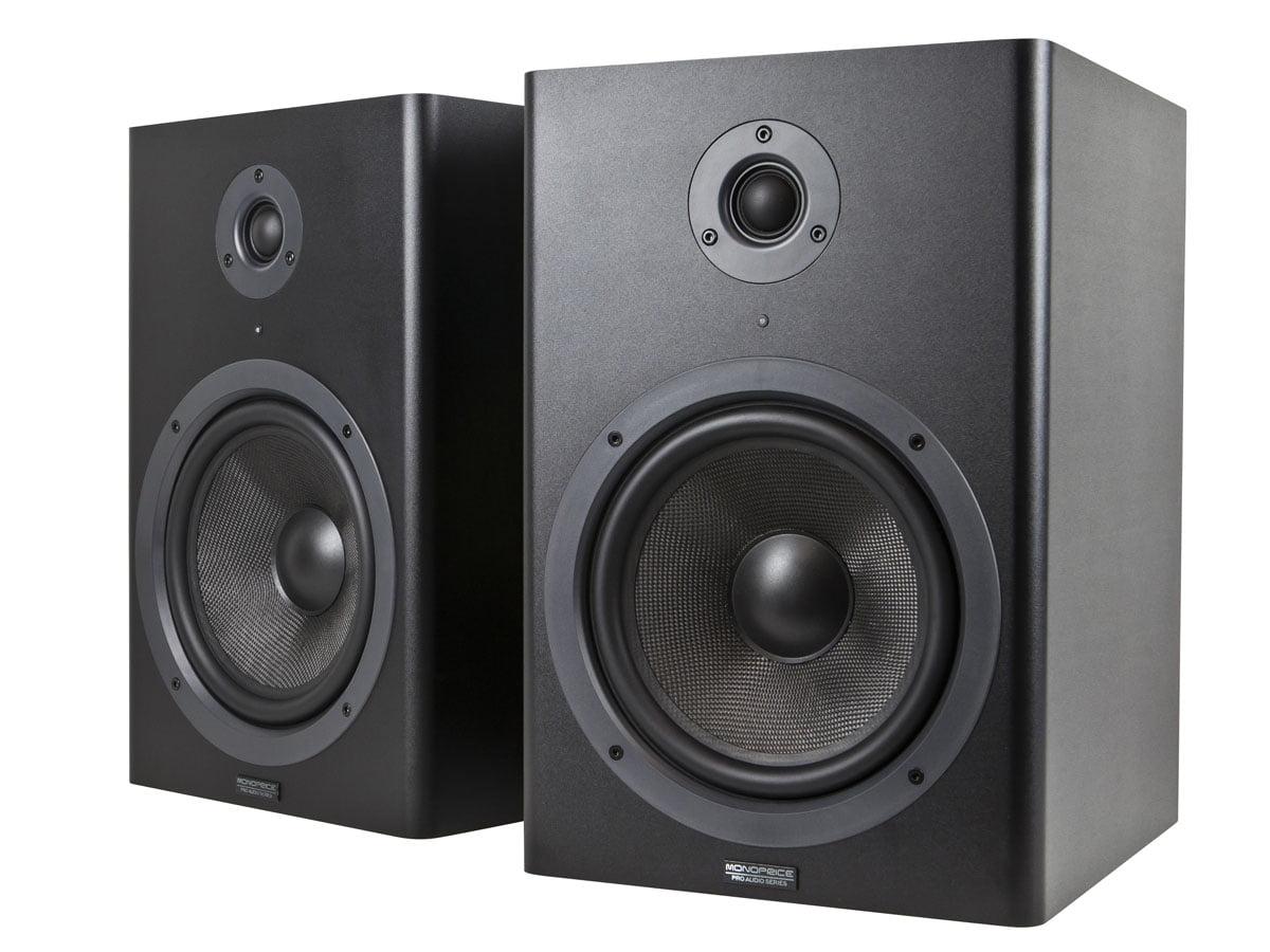 MONOPRICE 8-inch Powered Studio Monitor Speakers (pair) by Generic