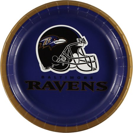 Baltimore Ravens 8-Pack Lunch Plate Set - No Size (Plates Baltimore)