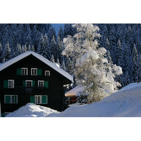 LAMINATED POSTER Mountain Snow Happy New Year Alps Best Wishes Poster Print 24 x (Best New Year Wishes In Hindi)