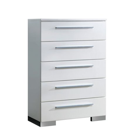 Furniture of America Rayland Contemporary 5-Drawer Chest in White