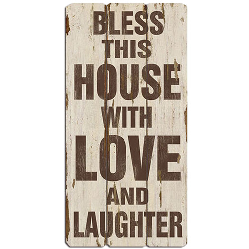 Bay Accents Bless This House with Love and Laughter Wall D cor