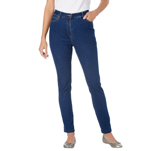 petite skinny jeans : Woman Within Women's Plus Size Petite Stretch Skinny Jean Jean