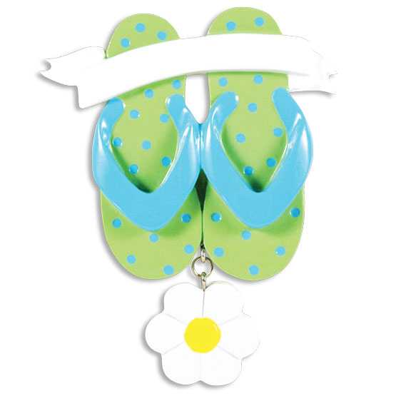 PERSONALIZED CHRISTMAS ORNAMENTS TRAVEL- FLIP FLOPS KIT