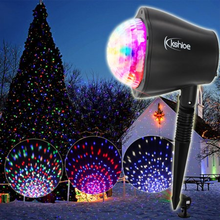 UBesGoo Outdoor LED Christmas Lights Projector, Xmas Halloween Holiday Party Landscape Lawn RGBW Light  Show 2017 Newest Version