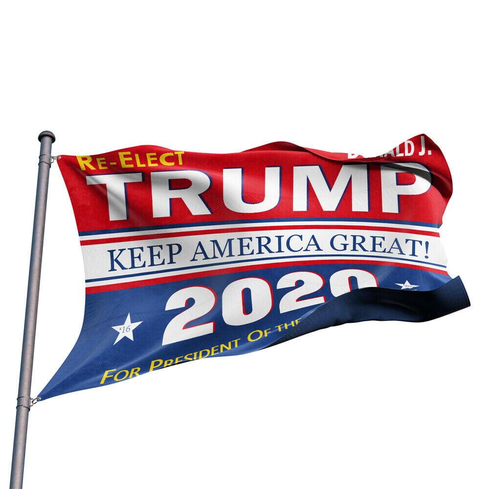 Trump 2020 President Donald trump Keep Make America Great 3x5 Ft Flag US//FO