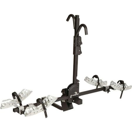 Bike 2 Inch Receiver Hitch - Swagman 64683 Black Chinook 2-Bike Frame Key Lock Hook Hitch RV Rack, Fits 1-1/4