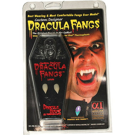 Vampire Coffin Carded Fangs Halloween Accessory - Halloween Birthday Card Verses