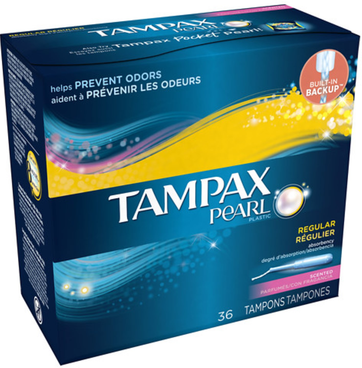 Tampax Pearl Tampons with Plastic Applicators, Scented 36 ea