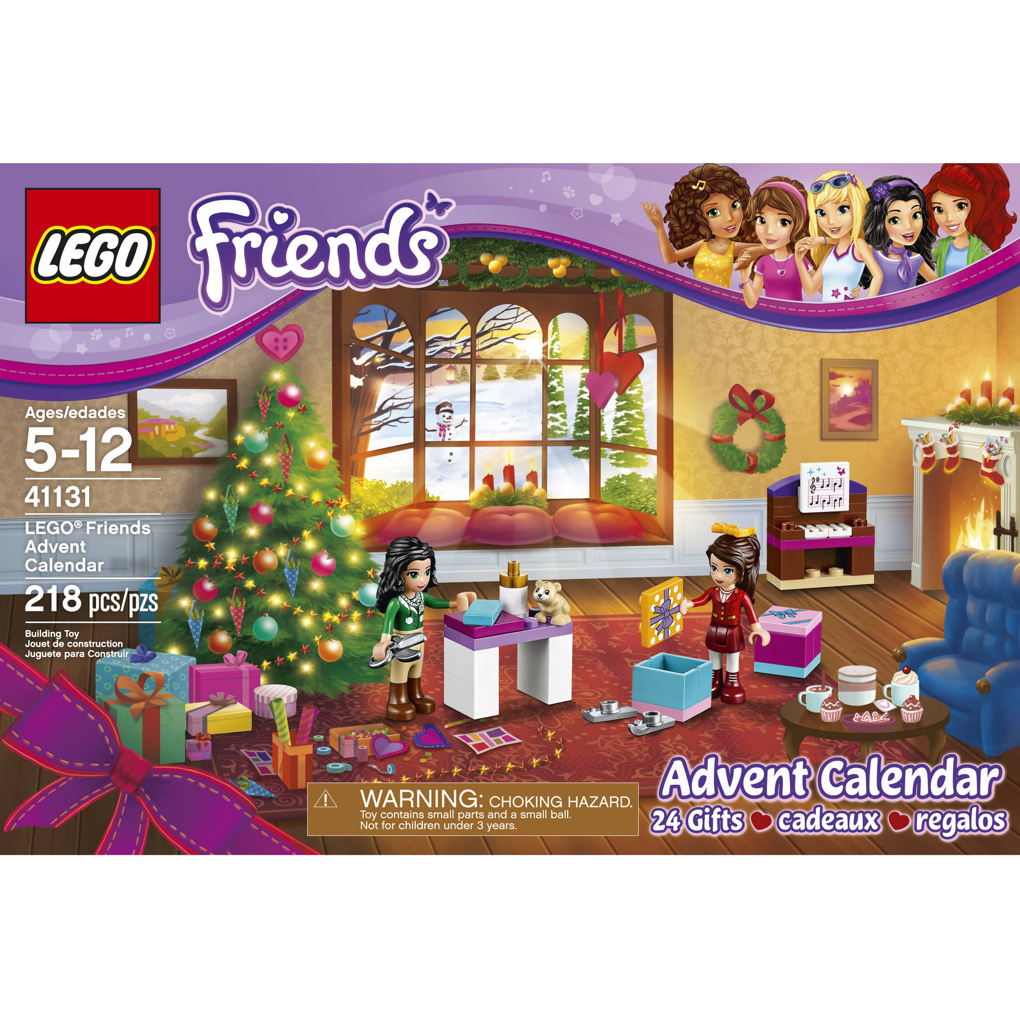 lego friends lego friends advent calendar 41131 walmartcom