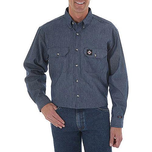 Wrangler Men's HRC-2 Flame Resistant Denim Shirt