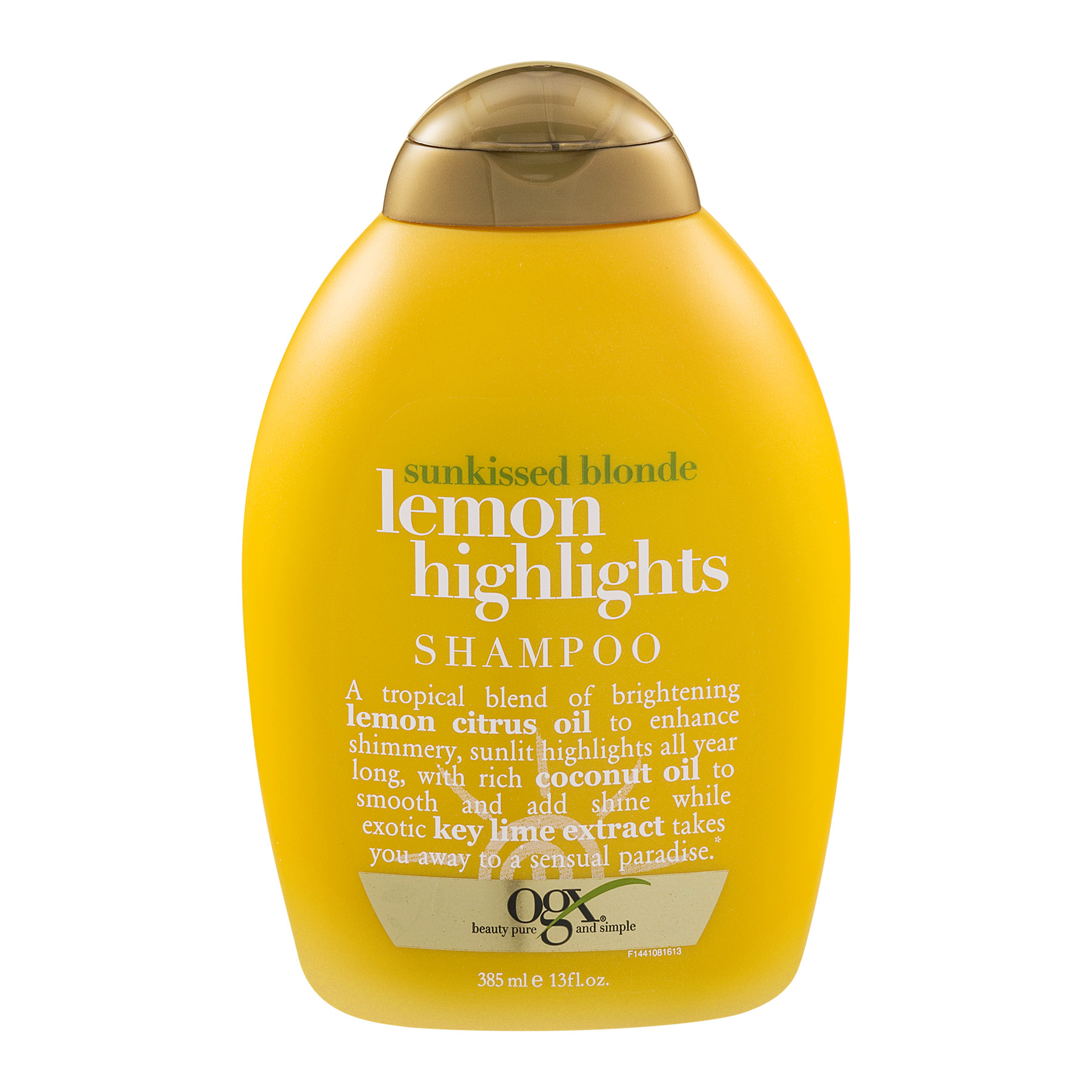 OGX Sunkissed Blonde Lemon Highlights Shampoo, 13.0 FL OZ