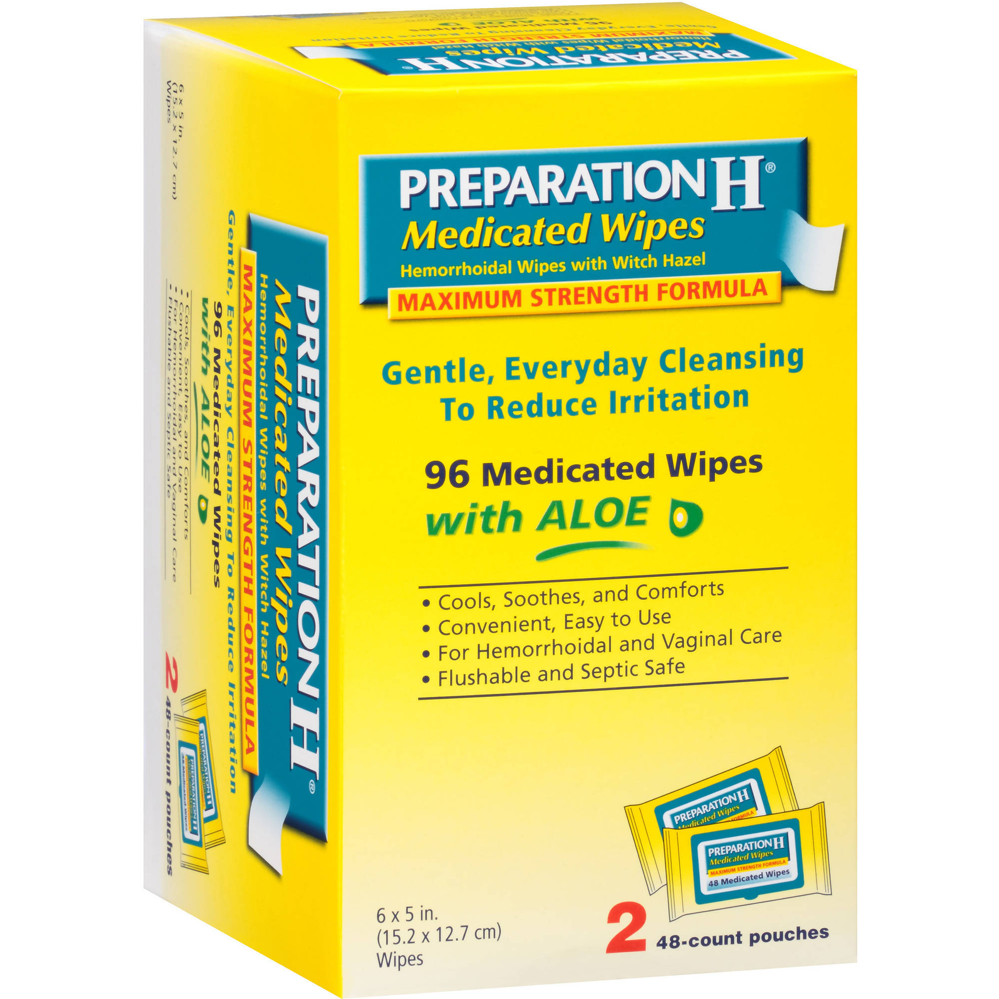 Preparation H Preparation H Wipes, 96 CT