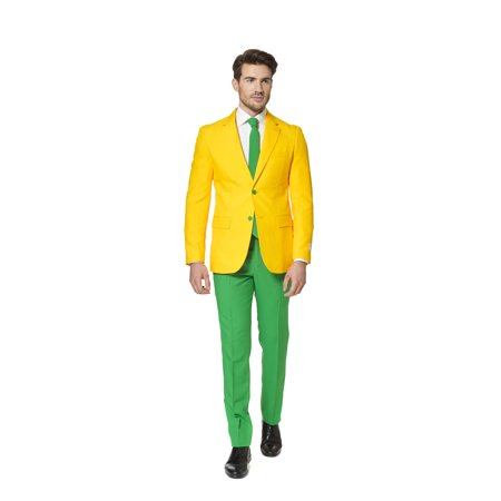 OppoSuits Men's Green and Gold Australian Suit - Predator Costume Australia