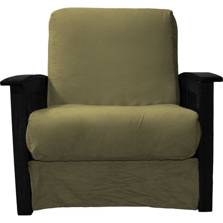 Awesome Morris Mission Style Perfect Sit Sleep Pocketed Coil Innerspring Chair Sleeper Child Size Bed Chair Black Suede Olive Green Inzonedesignstudio Interior Chair Design Inzonedesignstudiocom