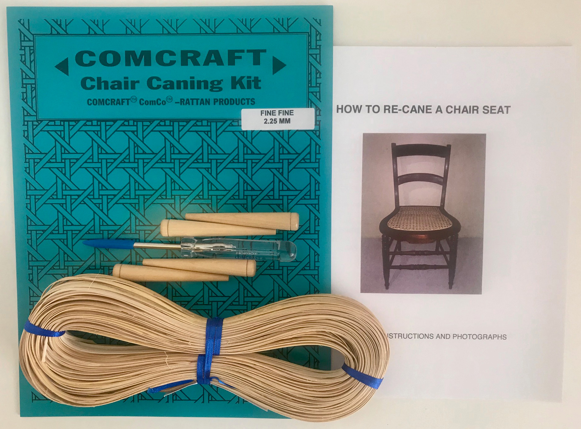 & Comcraft Chair Caning Kit-Fine Fine 2.25Mm Cane