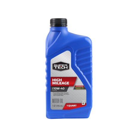 10w40 Motor Oil ((4 Pack) SuperTech High Mileage 10W40 Motor Oil, 1 qt)