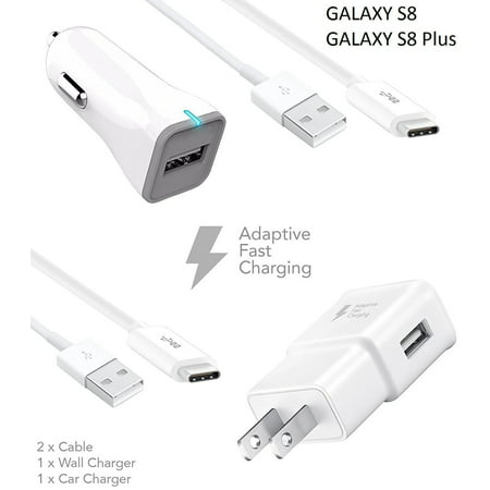 Samsung Galaxy S8 Edge Charger Adaptive Fast Type C Cable Wall Car 2 Cables True Digital Charging Uses
