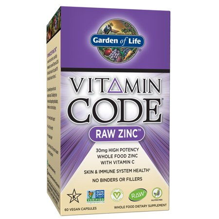 Garden of Life Vitamin Code Zinc Capsules, 30mg, 60 Ct