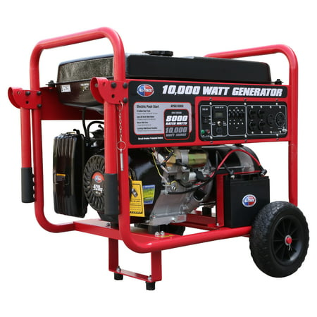 All Power 10000 Watt Generator APGG10000, 10000W Gas Portable Generator with Electric Start for Home Emergency Power Backup, RV Standby, Storm Hurricane Damage Restoration, EPA