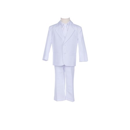 Ekidsbridal Boy Teen WhiteSuit Tuxedo Recital Easter Holiday Spring Summer Seasonal Communion Receptions Ceremony Birthday Baptism Special - Boys First Communion