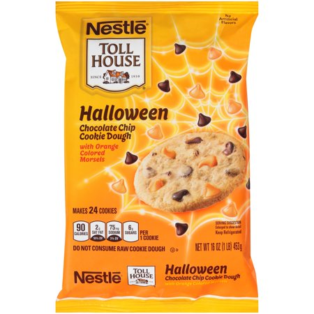 NESTLE TOLL HOUSE Halloween Chocolate Chip Cookie Dough 16 ...