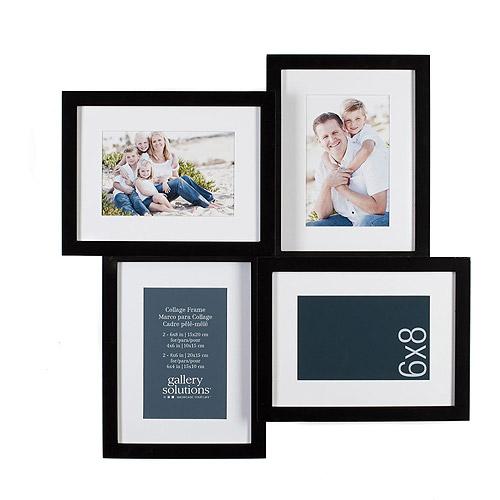 Pinnacle Frame 6x8 4 Opening Mat 4x6 Bla Walmart Com