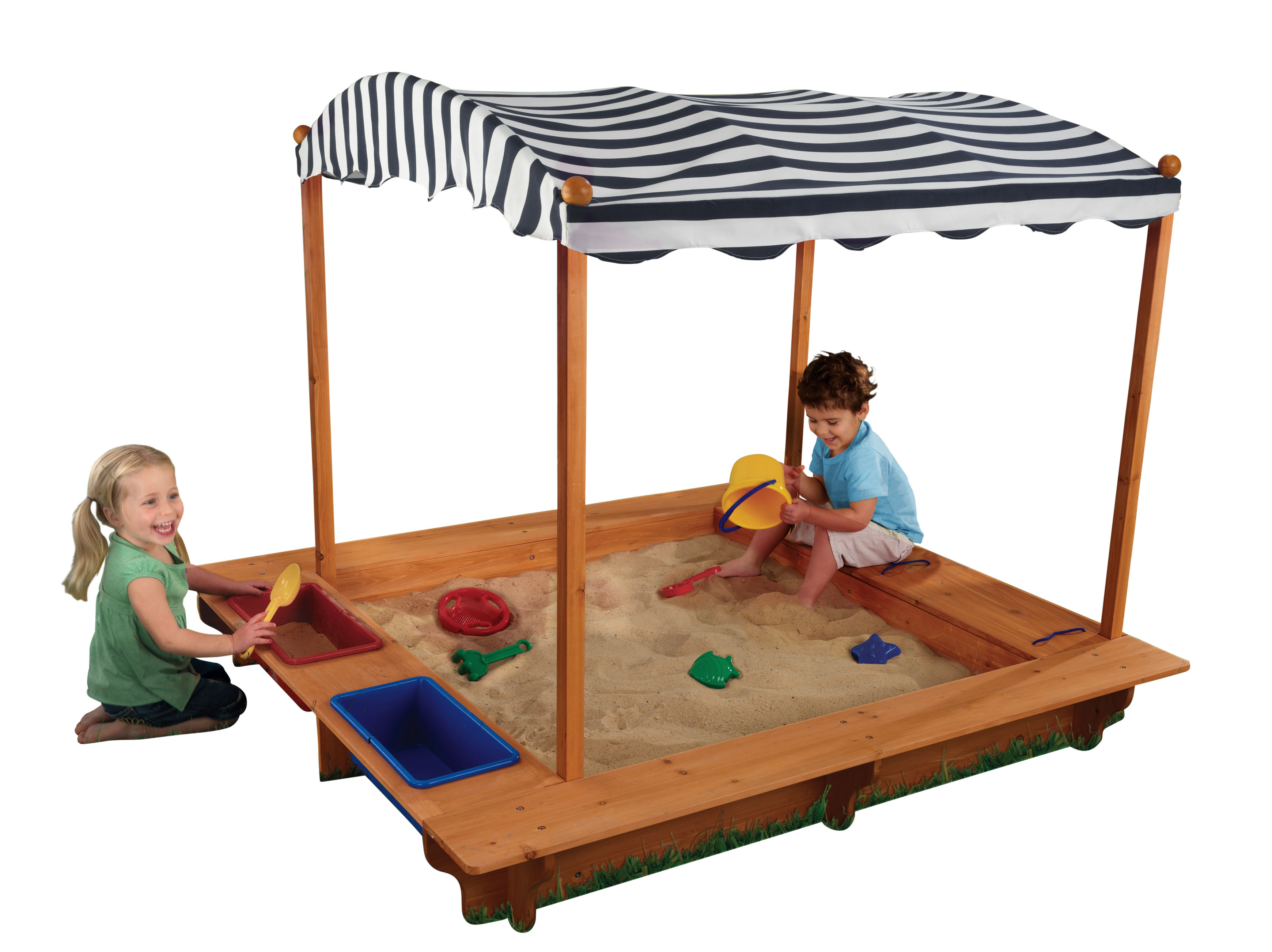 KidKraft Outdoor Sandbox with Canopy - Navy u0026 White  sc 1 st  Walmart & KidKraft Outdoor Sandbox with Canopy - Navy u0026 White - Walmart.com