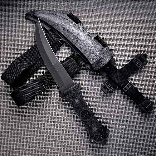 "Fury Apex 13"" Fixed Blade Knife, Razor Edge Jambiya, Hard Sheath Black"