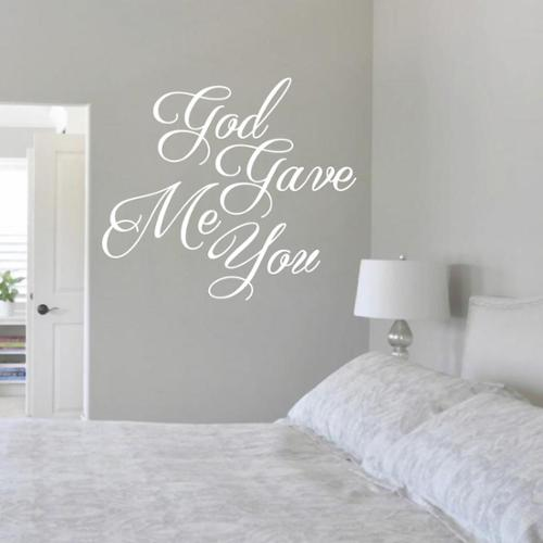 Sweetums God Gave Me You 24-inch x 21-inch Vinyl Wall Decal