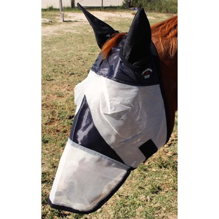 Equine Horse Fly Mask Summer Spring Airflow Mesh UV Mosquitoes  73287