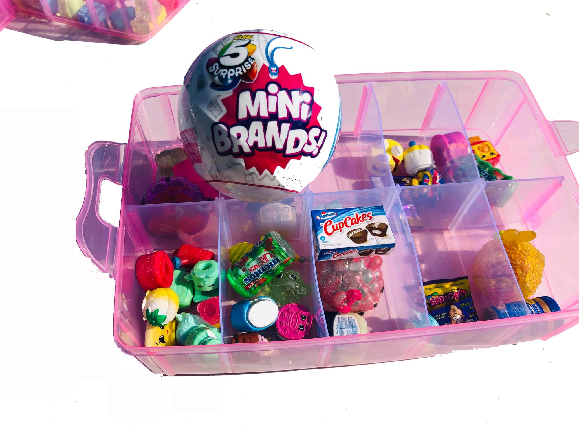 Omg Lol Dolls 5 Surprise Mini Brands Customizable Organizer Case Stackable 3 Tier 30 Compartments Perfect For Dolls Collectible Toys 5 Surprise Mini Brands Ball Not Included Walmart Com Walmart Com
