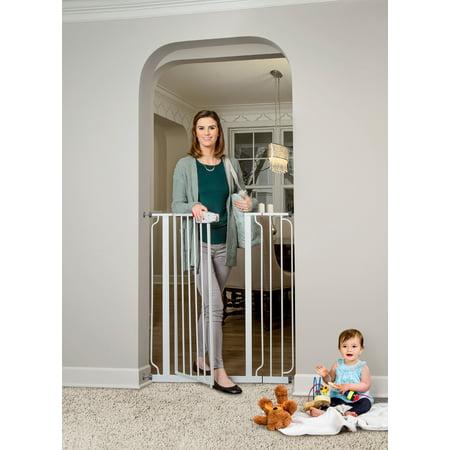 Regalo Extra Tall Easy Step Walk Thru Baby Gate White Walmart Com