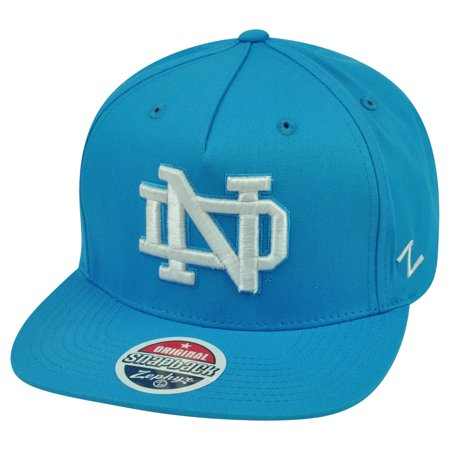 41871e894 NCAA Notre Dame Fighting Irish Popsicle Zephyr Snapback Neon Blue Flat Bill  Hat