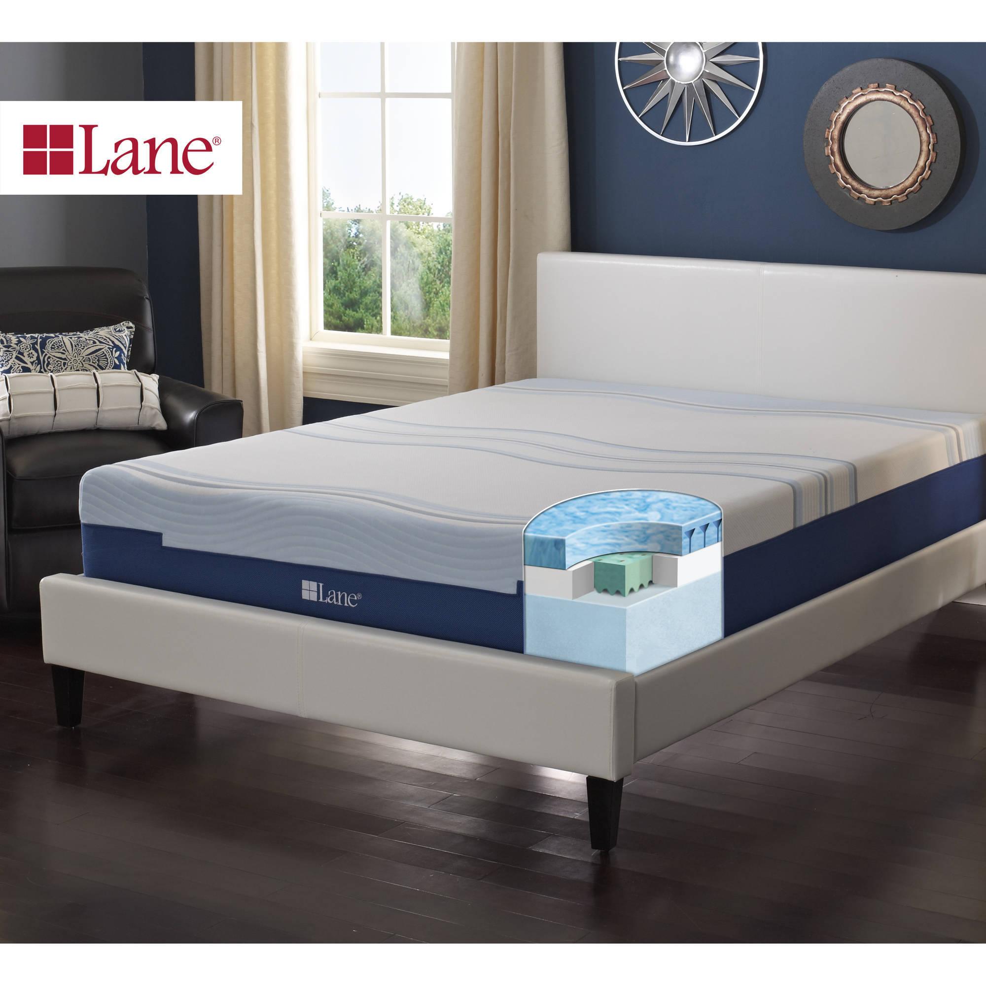 "Contura by Lane 12"" Medium Plush Gellux Fusion Engineered Latex Foam Mattress Bed"