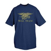 Fox Outdoor 63-92 L Seal Team T-Shirt, Navy Blue - Large