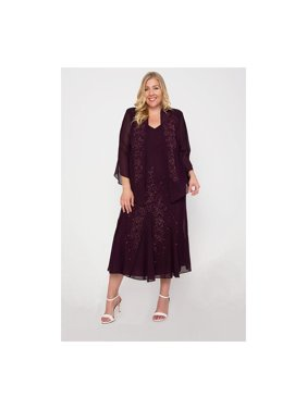 R&M Richards Plus Size Long Formal Mother Of The Bride Dress