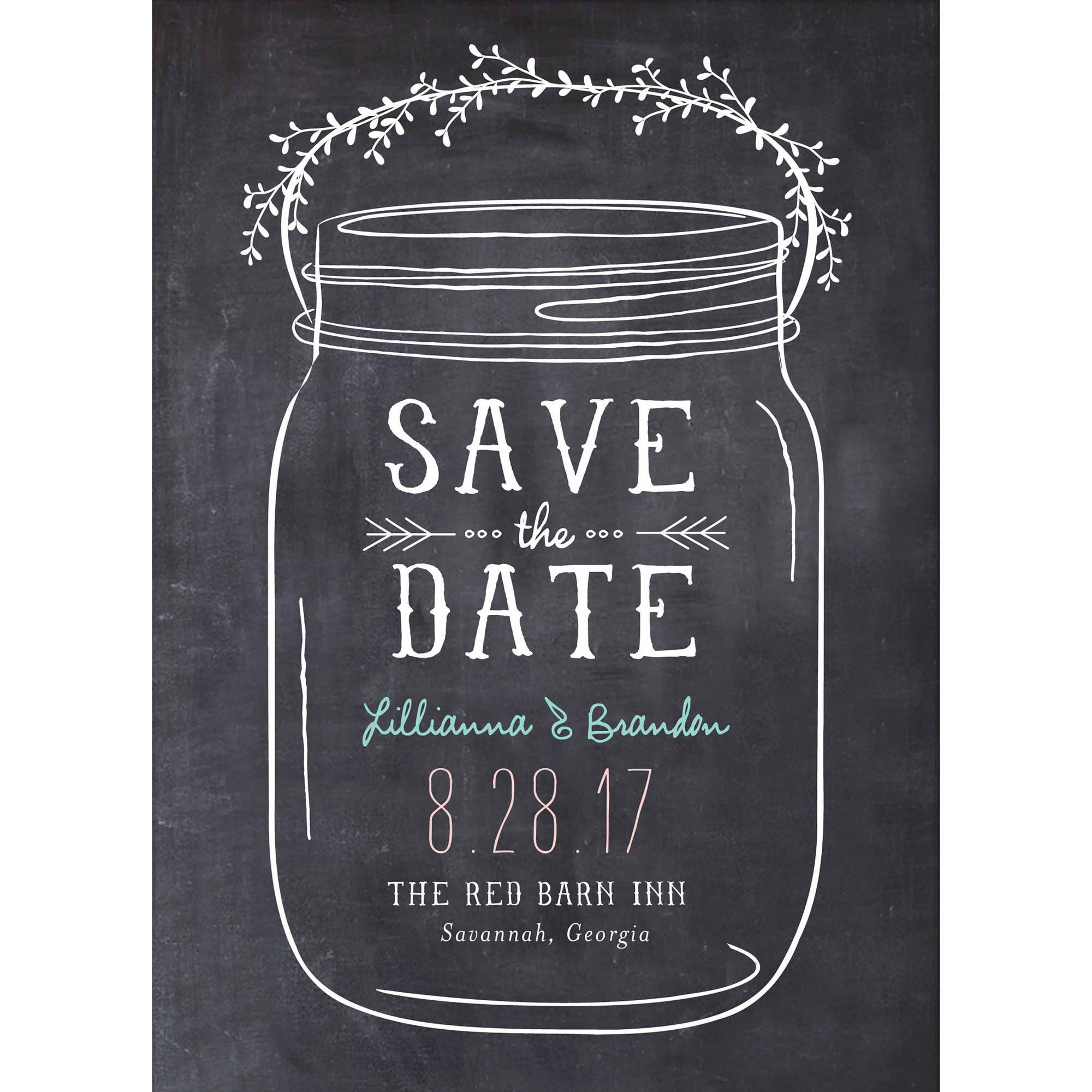 mason jar standard save the date com
