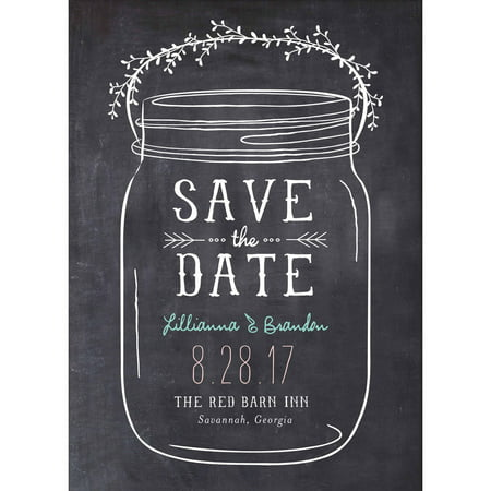 Mason Jar Standard Save the Date (Difference Between Save The Date And Wedding Invitation)